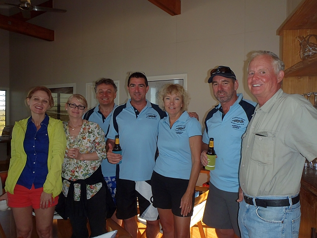 """Left to Right. Kim, Leslie, Peter, Rod, Roslyn and Ross - """"R&R"""". Martin - Owner of Berkeley Lodge."""