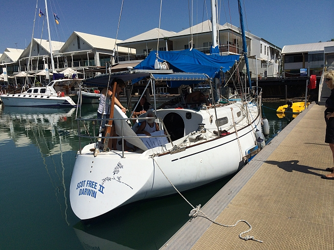 """Scot Free II"" at Cullen Bay Marina. Expect to see her and Phil anywhere in northern waters."