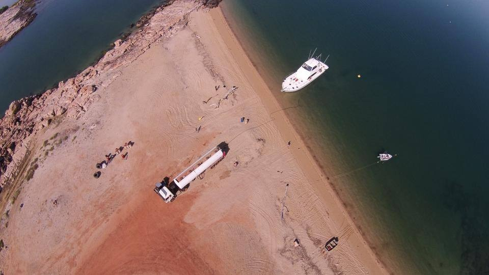 Fuel tanker at McGowan Island.